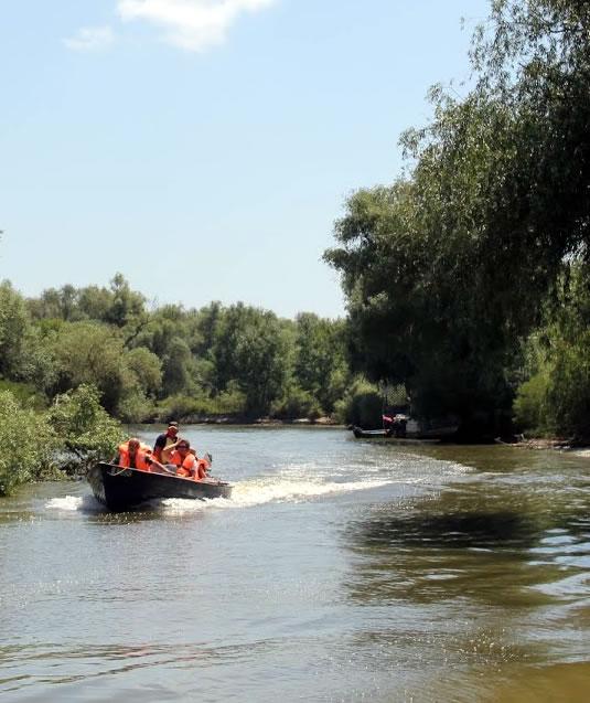 Turisti in  Delta Dunarii