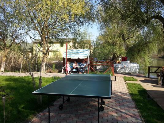 Masa de tenis in curtea pensiunii